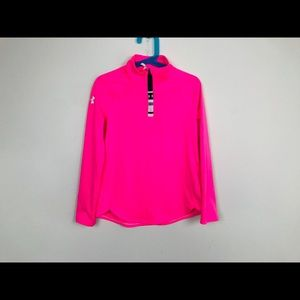 Under Armour Pullover 1/2 Zip Pink Sz Small